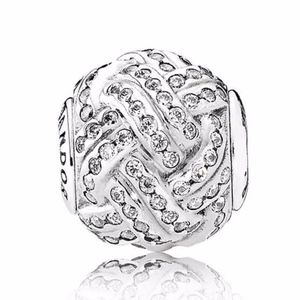 Pandora Charm Sparkling Love Knot Sterling Silver